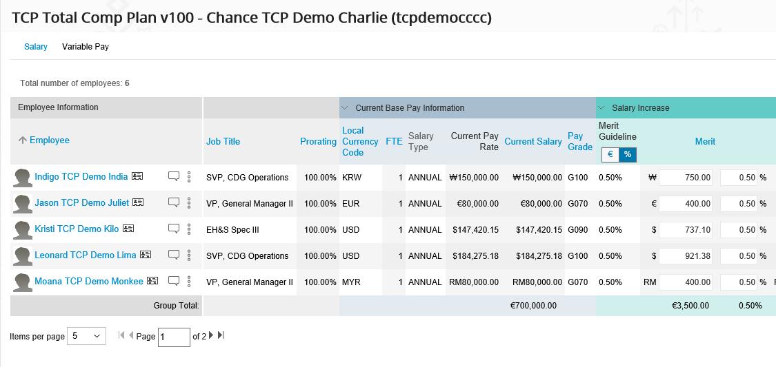 SuccessFactors Compensation & Variable Pay 1802