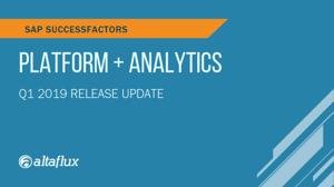 BLOG Q1 2019 Platform & Analytics