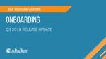 Q3 2019 Release Highlights: SuccessFactors Onboarding
