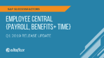 Q1 2019 Release Highlights: SuccessFactors Employee Central Payroll, Localization, Benefits, Time Management