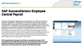 SAP SuccessFactors Employee Central Payroll Brochure Icon