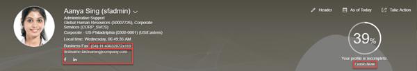 SAP SuccessFactors People Profile Header