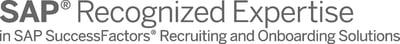 SAP Recognized Expertise SuccessFactors Recruiting Onboarding