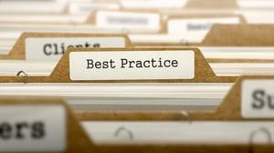 Best Practice Concept. Word on Folder Register of Card Index. Selective Focus.