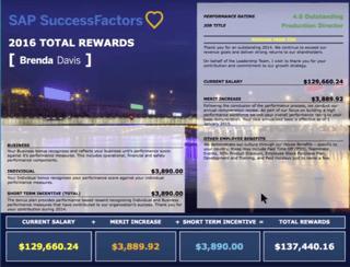 SuccessFactors Compensation Management Software Statement