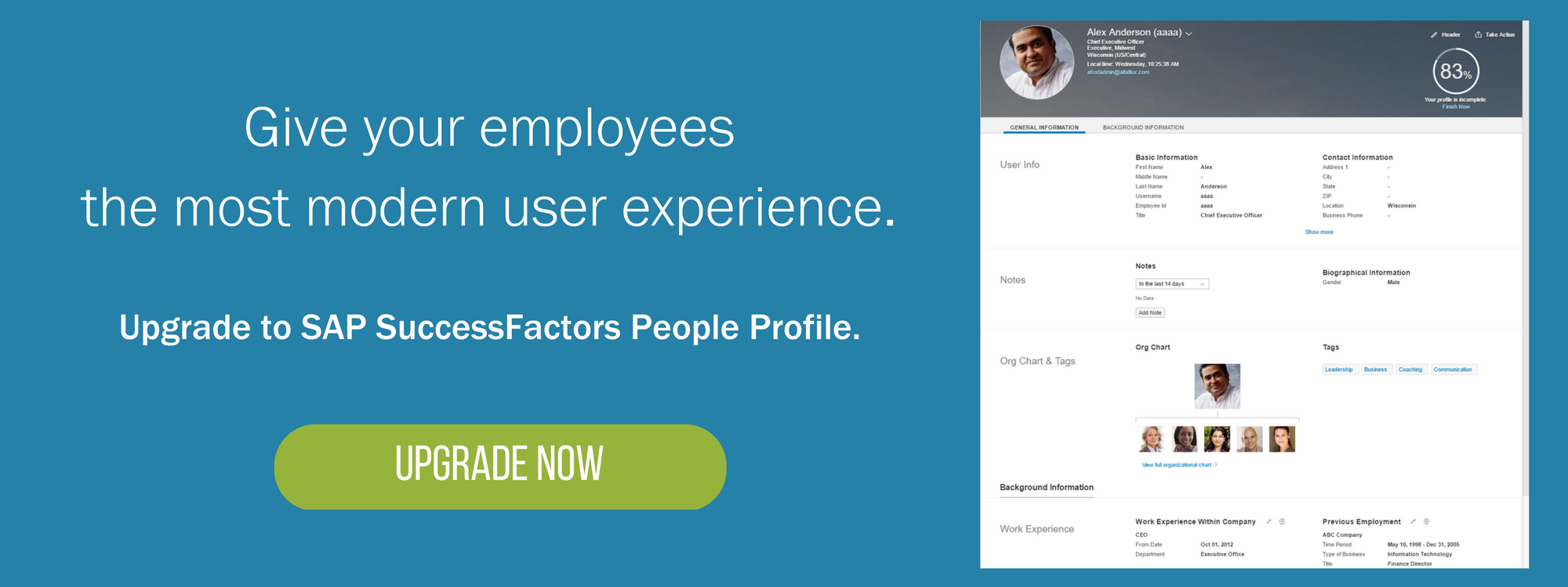 SAP SuccessFactors Employee Profile to People Profile – Employee Profile
